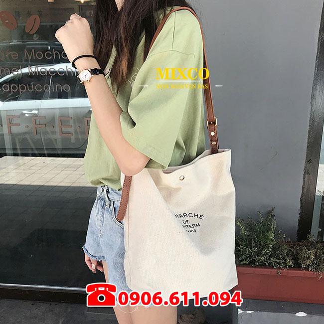 Túi vải Canvas có dây đeo giá rẻ TPHCM Mixco