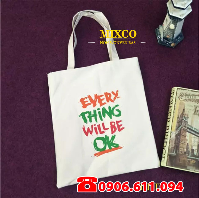Xưởng may túi vải Canvas có dây đeo Mixco