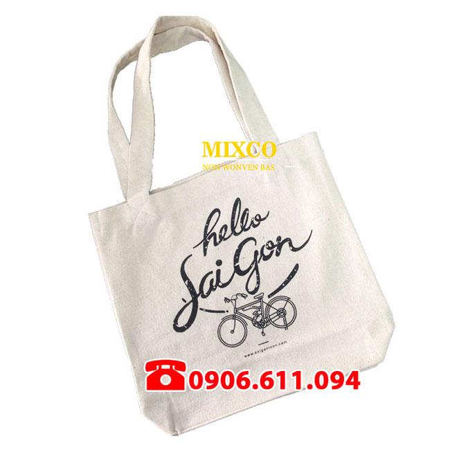 Xưởng túi vải bố dạng chặt đáy giá rẻ Mixco