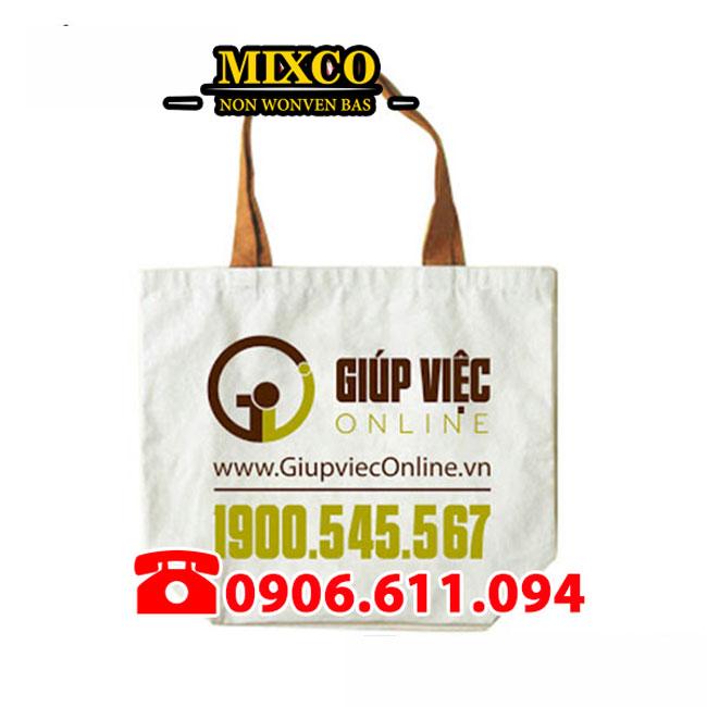 Túi vải bố dạng chặt đáy giá rẻ TPHCM