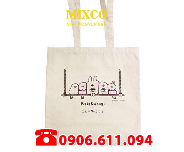 Túi vải bố dạng chặt đáy giá rẻ TPHCM Mixco