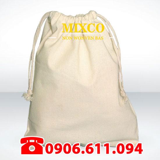 Xưởng may túi vải bố đựng Balo dây rút Mixco