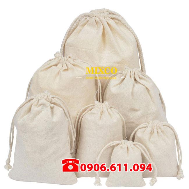 Túi vải bố đựng Balo dây rút giá rẻ TPHCM