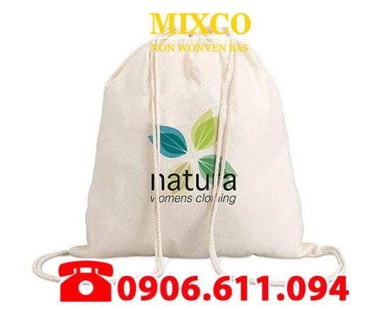 Túi vải bố đựng Balo dây rút giá rẻ TPHCM Mixco