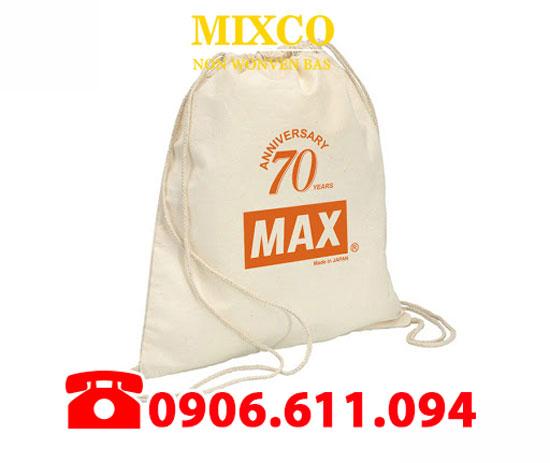 Xưởng may túi vải bố đựng Balo dây rút giá rẻ TPHCM Mixco