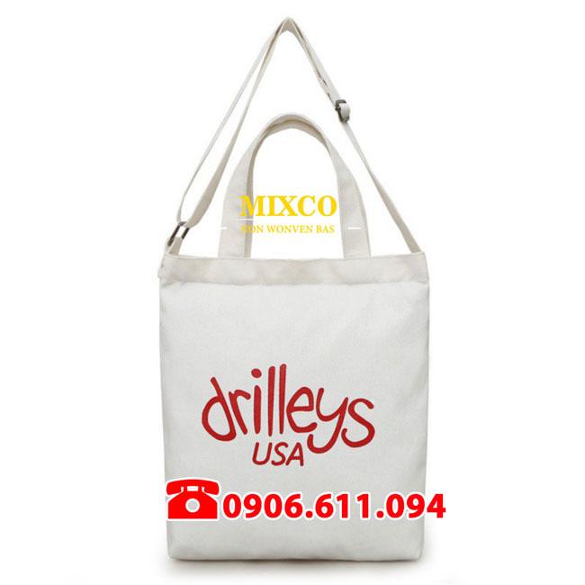 Xưởng may túi vải bố dạng dẹp Mixco giá rẻ TPHCM