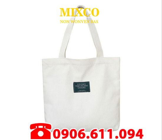 Túi vải bố dạng dẹp giá rẻ TPHCM