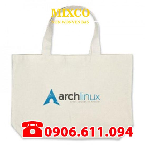 Túi vải bố dạng dẹp giá rẻ TPHCM Mixco