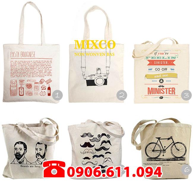 Xưởng may túi vải bố dạng dẹp Mixco giá rẻ