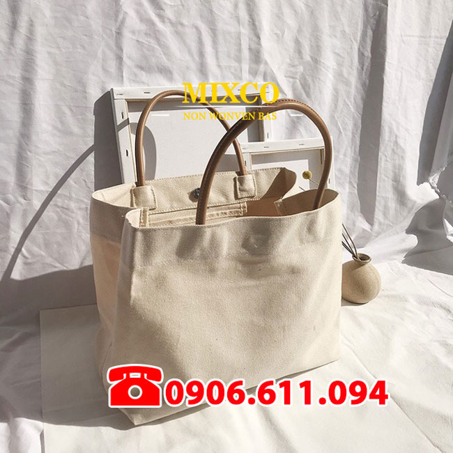 Túi vải bố dạng hộp giá rẻ TPHCM