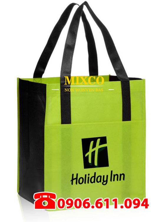 Túi vải bố dạng quai ép giá rẻ TPHCM Mixco