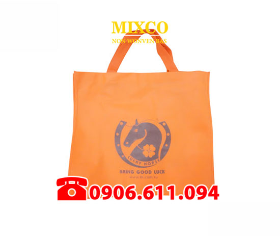 Xưởng may túi vải bố dạng quai ép giá rẻ TPHCM Mixco