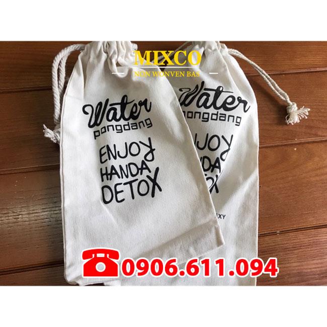 Công ty may túi vải bố đựng bình nước Mixco