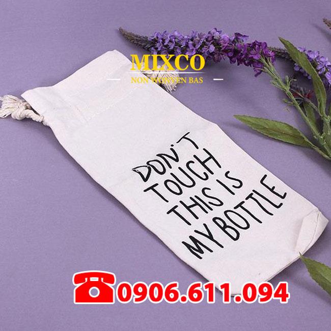 Túi vải bố đựng bình nước giá rẻ TPHCM