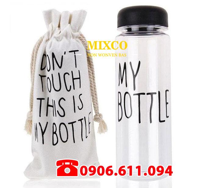 Xưởng may túi vải bố đựng bình nước giá rẻ TPHCM Mixco