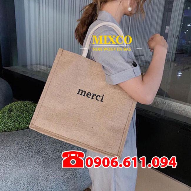 Túi vải bố Merci giá rẻ TPHCM