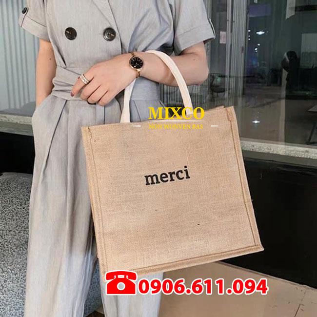 Xưởng may túi vải bố Merci Mixco