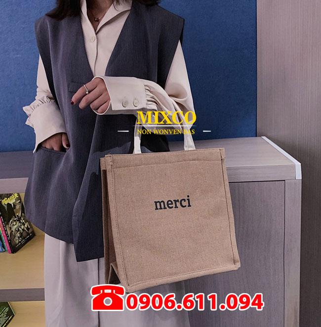 Túi vải bố Merci giá rẻ TPHCM Mixco