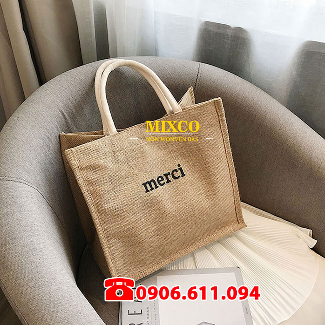 Xưởng may túi vải bố Merci giá rẻ TPHCM Mixco