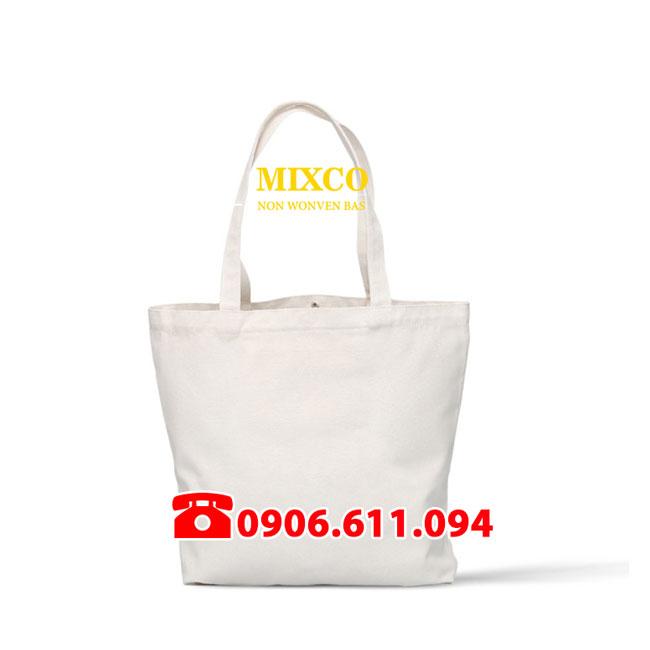 Túi vải bố trơn giá rẻ TPHCM Mixco