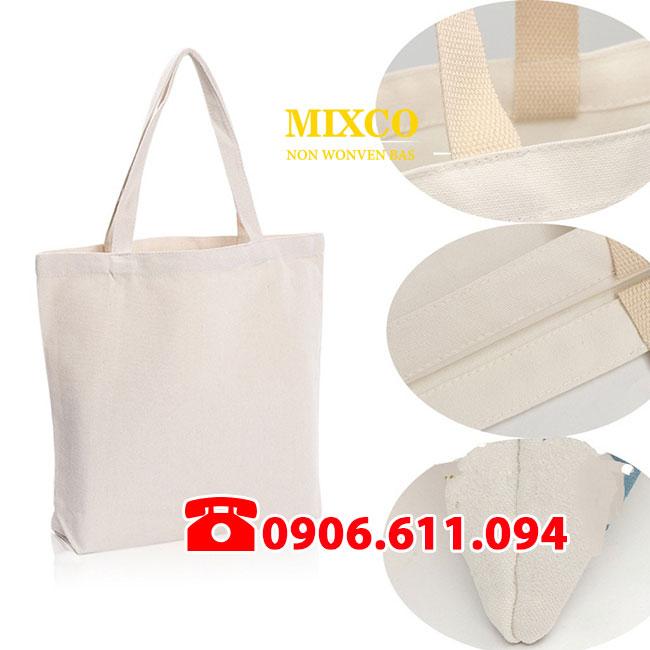 Xưởng túi vải bố trơn giá rẻ Mixco