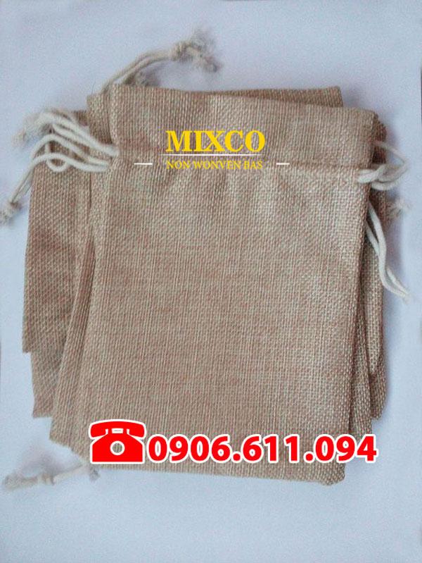 Xưởng may túi vải đay có dây rút giá rẻ TPHCM Mixco