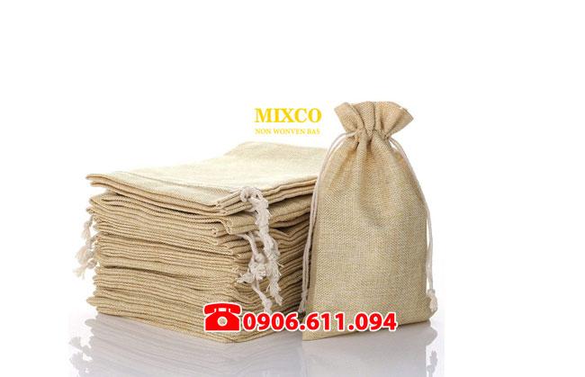 Xưởng may túi vải đay có dây rút giá rẻ Mixco