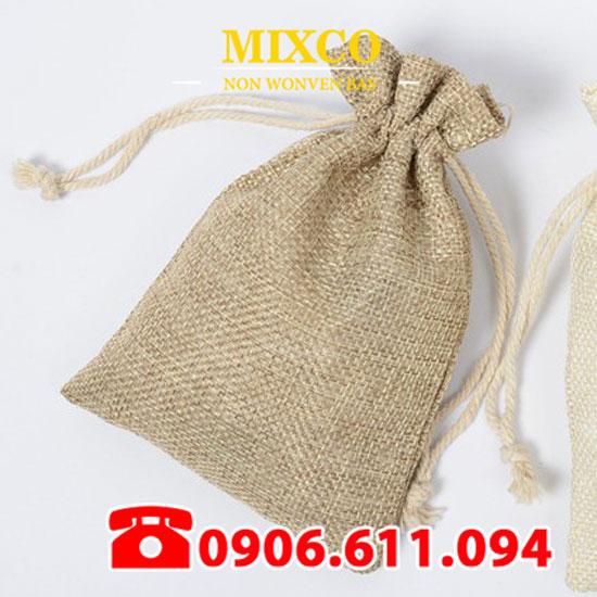 Xưởng may túi vải đay có dây rút