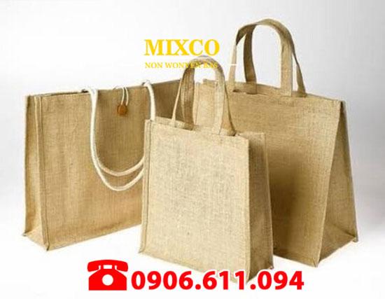 Túi vải đay có quai giá rẻ TPHCM Mixco