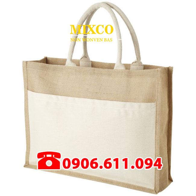 Xưởng may túi vải đay có quai giá rẻ TPHCM Mixco