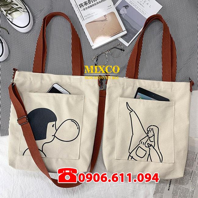 Công ty may túi vải đeo chéo Mixco