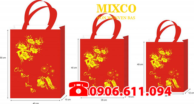 túi vải đựng quà tặng lịch tết giá rẻ TPHCM
