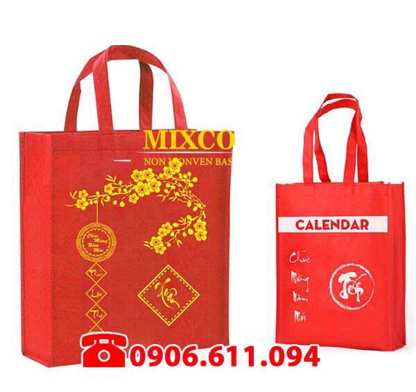 túi vải đựng quà tặng lịch tết giá rẻ TPHCM Mixco