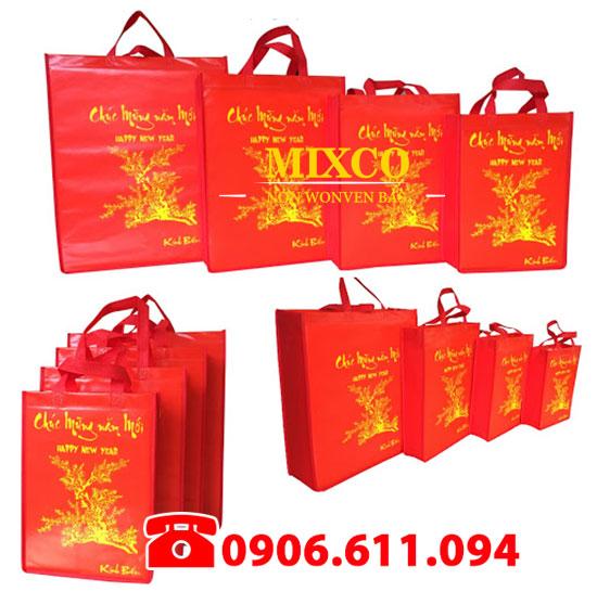 xưởng túi vải đựng quà tặng lịch tết giá rẻ Mixco