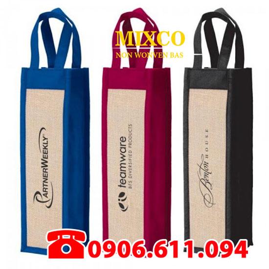 Túi vải không dệt đựng rượu giá rẻ