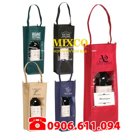 Xưởng may túi vải không dệt đựng rượu TPHCM Mixco