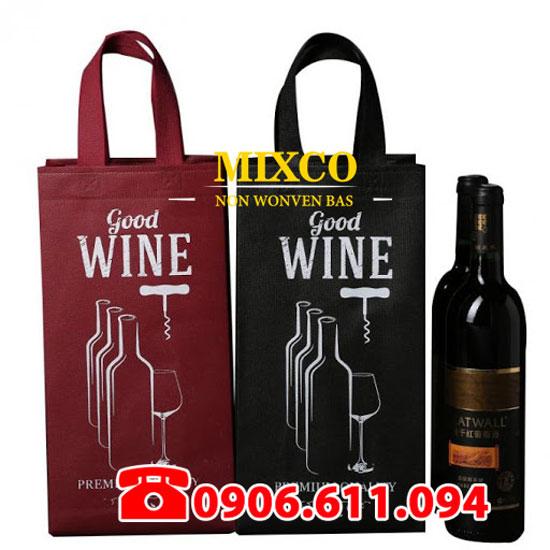Xưởng may túi vải không dệt đựng rượu giá rẻ Mixco