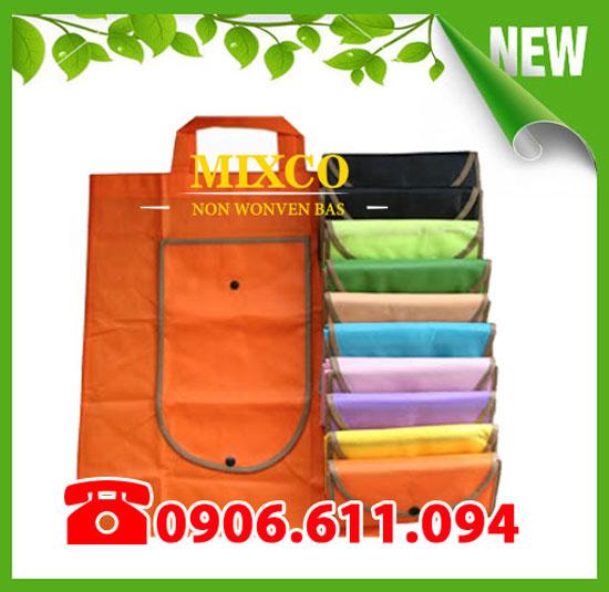 Túi vải không dệt gấp ví giá rẻ