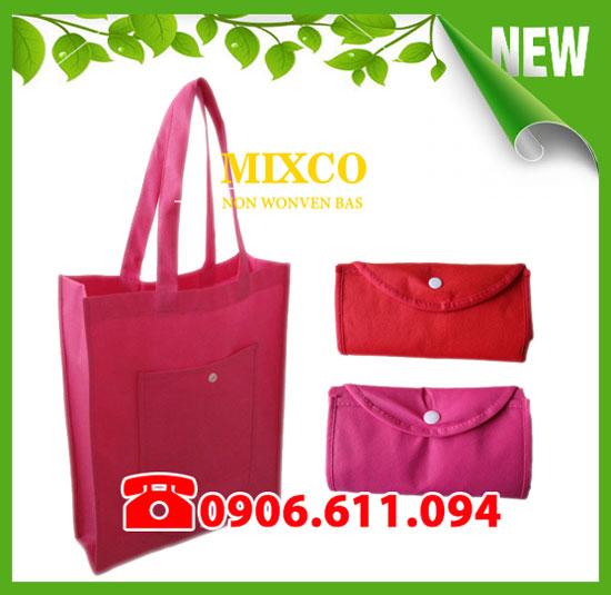 Túi vải không dệt gấp ví giá rẻ TPHCM