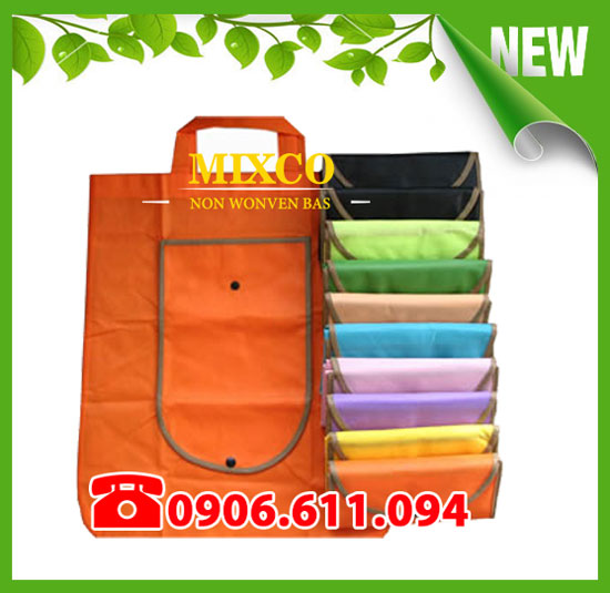 Túi vải không dệt gấp ví giá rẻ TPHCM Mixco