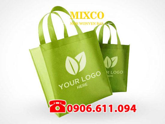 Xưởng may túi vải không dệt in Logo Mixco