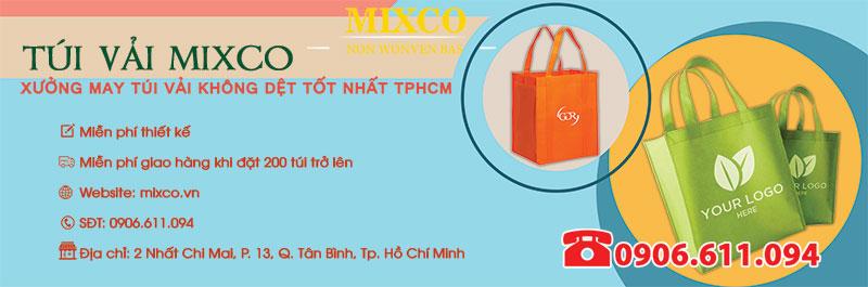 xưởng sản xuất may in túi vải Mixco TPHCM giá rẻ