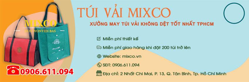 xưởng sản xuất may in túi vải Mixco giá rẻ TPHCM