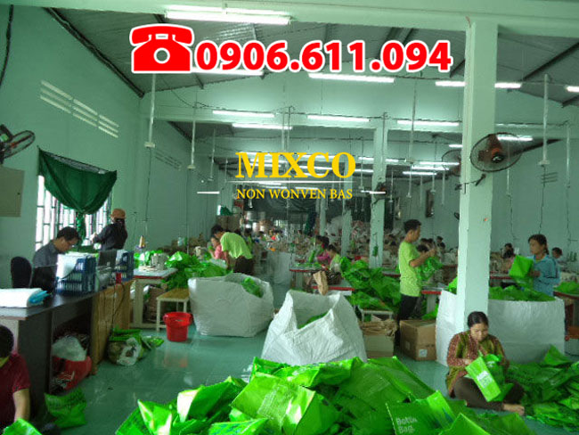 xưởng may in túi vải không dệt giá rẻ TPHCM Mixco